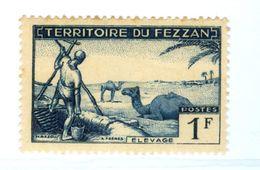 ITALIA, ITALY, FEZZAN, OCCUPAZIONE FRANCESE, 1951, FRANCOBOLLO NUOVO (MLH*) 1 F.   Sass. 30 - Fezzan & Ghadames