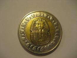One Pound EGYPT Bimetallic Coin Tutankhamun Sarcophagus - Egypt
