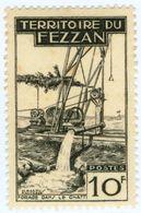 ITALIA, ITALY, FEZZAN, OCCUPAZIONE FRANCESE, 1951, FRANCOBOLLO NUOVO (MLH*) 10 F.   Sass. 35 - Fezzan & Ghadames