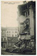MILITARIA GUERRE 14/18 AMIENS SOMME La Place Gambetta Hôtel Périgord Après Bombardements Allemands After The Bombardment - Guerre 1914-18