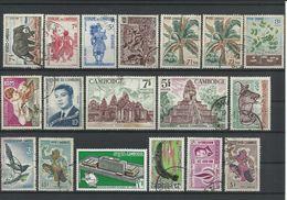 CAMBODGE - COLLECTION DE 28 TIMBRES NEUFS** SANS CHARNIERE ET OBLITERES - VOIR SCANNS - Cambodia