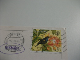STORIA POSTALE FRANCOBOLLO COMMEMORATIVO UCCELLO BIRD SEYSHELLES BEACH ON MAHE - Seychelles