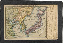 Japan-Scarce Tuck's Russo/Japanese War Map 1904 - Antique Postcard - Japan