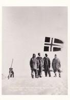 Postcard Roald Amundsen And Men At South Pole 1911 Norweigan Reproduction Antarctic Exploration Interest  My Ref B22156 - Postcards