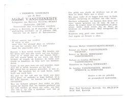 Devotie - Devotion - Michel Vansteenkiste - Kortrijk 1904 - 1986 - Benoit - Oudstrijder - Obituary Notices