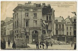 MILITARIA GUERRE 14/18 AMIENS SOMME La Place Gambetta Après Les Bombardements Allemands Square After The Bombardment - Guerre 1914-18