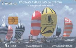CUBA -  Yellow Pages 2, Sailing Ships, Tirage 10.000, 11/04, Used - Cuba