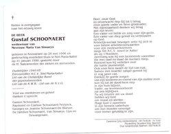 Devotie - Devotion - Gustaf Schoonaert - Knesselare 1906 - Sint-Maria-Aalter 1990 - Van Simaeys - Oudstrijder - Obituary Notices