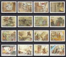 Complete 4 Set Stamps Taiwan 2000-2010  Romance 3 Kingdoms Martial Boat Arrow Medicine Music Chess Bridge Horse Wine - 1945-... Republic Of China