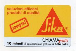Telecom - Scheda Chiama Gratis - 2003 - SIKA - 10 Minuti Di Conversazione Gratuita - NUOVA - (FDC7701) - Italy