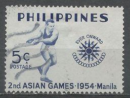 Philippines 1954. Scott #610 (U) Asian Games, Discus Thrower, Emblem - Philippines