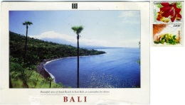 INDONESIA  BALI  AMED BEACH  Beautiful View  Nice Stamps - Indonesia