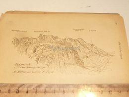 Glarnisch Glarnischgruppe Glarner Alpen Switzerland 1920 - Estampes & Gravures