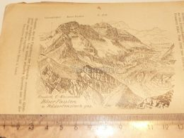 Böser Faulen Radertenstock Karrenalgruppe Glarner Alpen Switzerland 1920 - Estampes & Gravures