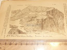 Karrenalgruppe Glarner Alpen Switzerland 1920 - Estampes & Gravures