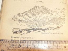 Ortstock Karrenalgruppe Glarner Alpen Switzerland 1920 - Estampes & Gravures