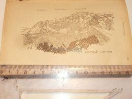 Vorab Segnesgruppe Glarner Alpen Switzerland 1920 - Estampes & Gravures