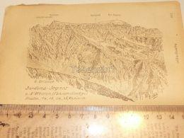 Sardona Segnes Segnesgruppe Glarner Alpen Switzerland 1920 - Estampas & Grabados