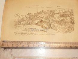 Muttseeberge Muttseegruppe Glarner Alpen Switzerland 1920 - Estampes & Gravures