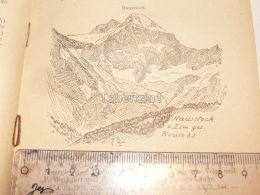 Hausstock Muttseegruppe Glarner Alpen Switzerland 1920 - Estampes & Gravures