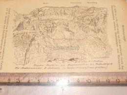 Ruchi Muttenstock Muttenberg Muttseegruppe Glarner Alpen Switzerland 1920 - Estampes & Gravures