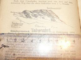 Clariden Claridengruppe Glarner Alpen Switzerland 1920 - Estampes & Gravures