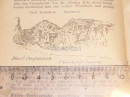 Teufelstock Claridengruppe Glarner Alpen Switzerland 1920 - Estampes & Gravures