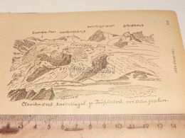 Claridenstock Claridengruppe Glarner Alpen Switzerland 1920 - Estampes & Gravures