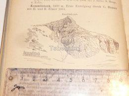 Kammlistock Claridengruppe Glarner Alpen Switzerland 1920 - Estampes & Gravures