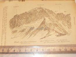 Tödi Glarner Alpen Switzerland 1920 - Estampes & Gravures