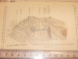Piz Rusein Glarner Alpen Switzerland 1920 - Estampes & Gravures