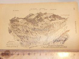Brigelserhörner Pontegliasgruppe Glarner Alpen Switzerland 1920 - Estampes & Gravures