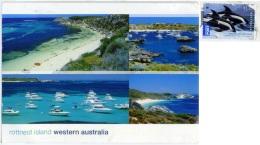 AUSTRALIA   WA  ROTTNEST ISLAND  Multiview  Yacht  Nice Stamp  Dolphin Theme - Australia