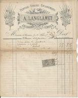 SAINT BRIEUC A LANGLAMET PEINTURE VITRERIE ENCADREMENTS GRAVURES DECORATIONS D EGLISES ANNEE 1895 - Unclassified