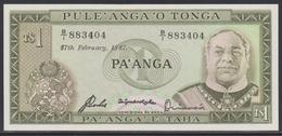 Tonga 1 Pa'anga 27.02.1987 UNC - Tonga