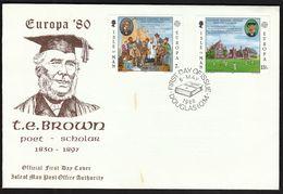 Isle Of Man 1980 / Europa CEPT / Thomas Edward Brown, Poet And Scholar / FDC - Europa-CEPT