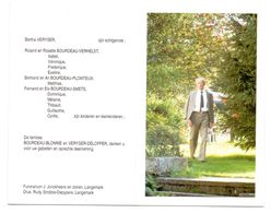 Devotie - Devotion - Remi Bourdeau - Beaumont 1917 - Roeselare 1996 - Veryser - Oudstrijder - Avvisi Di Necrologio