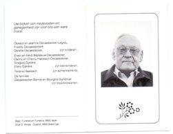 Devotie - Devotion - Albert Decaestecker - Landebia 1915 - Boezinge 1990 - Bourgois - Oudstrijder - Avvisi Di Necrologio