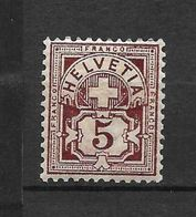 LOTE 1574  ///  (C002) SUIZA 1882    YVERT Nº: 65 *MH - Nuevos