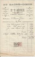 SAINT BRIEUC F BENECH  AU SACRE COEUR DRAPERIE ROUENNERIES TOILES DE BRETAGNE FABRIQUANT UZEL ANNEE 1916 - Unclassified