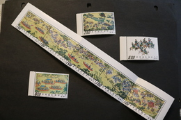 China 1780-1783 Emperor Shih-tsung's Journey Part II Strip Has Been Folded MNH 1972 A04s - 1945-... Republic Of China