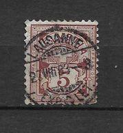 LOTE 1574  ///  (C002) SUIZA 1882    YVERT Nº: 65  CON FECHADOR DE LAUSANNE - Nuevos