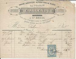SAINT BRIEUC E ALLENDY ORFEVRERIE BIJOUTERIE DORURE ARGENTURE BIJOUX ANNEE 1870 - Unclassified