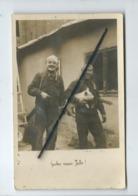 Carte Photo -    Gutés Neues Jahr ( Bonne Année ) -  Militaire , Soldat , Cochon , Porcelet - Militaria