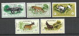 ETIOPIA Animals   Serie Completa  ** MNH - Etiopia