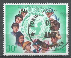 Philippines 1969. Scott #1037 (U) World's Children And UNICEF Emblem - Philippines