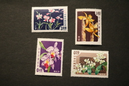 China 1189-92 Flora Flowers Orchids MNH 1958 A04s - 1945-... Republic Of China