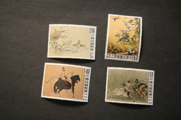 China 1261-64 Palace Paintings Horse Flowers Birds Duck Hinged HR 1960 A04s - 1945-... Republic Of China