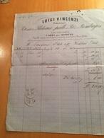 CARPI-22-10-1804-DITTA LUIGI CINCENZI-FABBRICANTE -TRESSES -PLATEAUX-PAILLE DE RIZ-BOMBAYES - Italia
