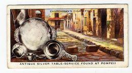 Churchman - 1937 - Treasure Trove - 18 - Antique Silver Table-service Found At Pompeii - Churchman